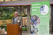 Professor Tony Butterworth CBE at the Foundation of Nursing Studies Celebrating Innovation and Excellence held on 07 June 2016 1800-2000. <br /> <br /> Celebrating and sharing the innovative nurse-led work that makes health and social care excellent.<br /> <br /> In the presence of  Professor Tony Butterworth CBE, Chair of Trustees, FoNS and Dr Theresa Shaw, Cheif Executive of FoNS Professor and Jane Cummings, Chief Nursing Officer, NHS England along with invited guests.<br /> <br /> Richard Tompkins Nurse Development Scholarships awarded to Rachel Bevan & Rebecca Lacey. <br /> <br /> Best Poster 'Person-centred Paediatric Care: Capturing the Experience and Collaborating for the Future' by Ruth Magowan, Ann Chalmers, Tracey Millin and Chrissie Smith