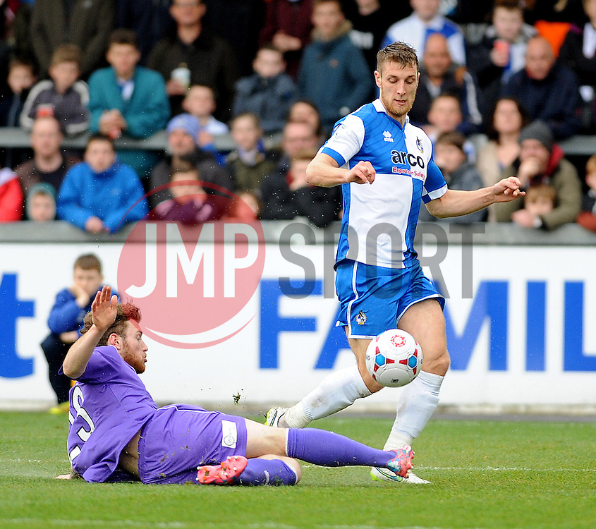 Bristol Rovers' Lee Brown - Photo mandatory by-line: Neil Brookman/JMP - Mobile: 07966 386802 - 03/04/2015 - SPORT - Football - Bristol - Memorial Stadium - Bristol Rovers v Chester - Vanarama Football Conference