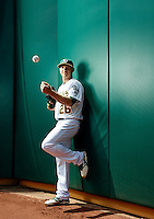 Baseball player Scott Kazmir poses for a portrait in Oakland California.<br />
