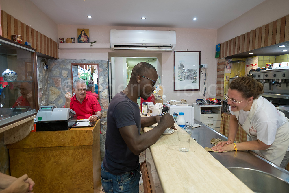 Ethnic integration in Palermo is a reality. In Ballarò's market bar