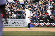 CHICAGO - APRIL 01:  Jeff Keppinger #7 of the Chicago White Sox throws the baseball toward first base against the Kansas City Royals on April 1, 2013 at U.S. Cellular Field in Chicago, Illinois.  The White Sox defeated the Royals 1-0.  (Photo by Ron Vesely)   Subject: