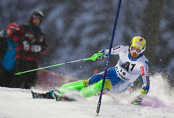 21.12.2011, Hermann Maier Weltcup Strecke, Flachau, AUT, FIS Weltcup Ski Alpin, Herren, Slalom 1. Durchgang, im Bild Mitja Valencic (SLO) in Aktion //  Mitja Valencic of Slovenia in action during Slalom race 1st run of FIS Ski Alpine World Cup at 'Hermann Maier World Cup' course in Flachau, Austria on 2011/12/21. EXPA Pictures © 2011, PhotoCredit: EXPA/ Johann Groder