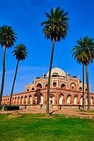 Inde, Delhi, tombe de l'empereur Moghol Humayun, Unesco // India, Delhi, Humayun Mausoleum, Unesco world heritage