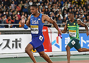 May 12, 2019; Yokohama, JPN; Remontay McClain runs the anchor leg on the United States 4  x 200m relay that won in 1:20.12 during the IAAF World Relays at International Stadium Yokohama.