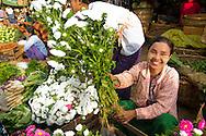 Woman at the market in Bagan, Myanmar (Burma).