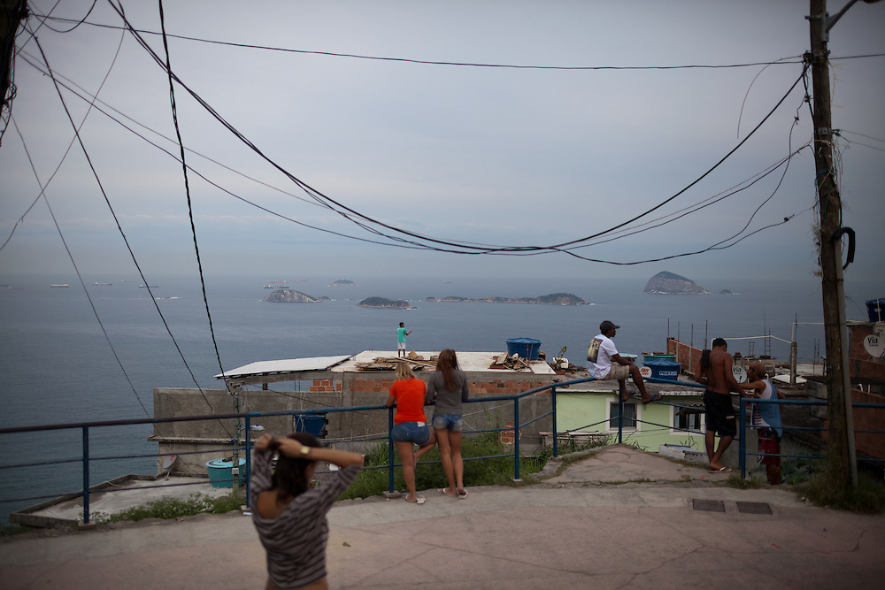 Views of the ocean from Vidigal, a pacified favela in the South Zone of Rio de Janeiro, Brazil, on Thursday, May 23, 2013.