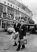 Irish Olympic Boxers leave for Rome. 20.08.1960 Bernard Meli & Adam McClean Belfast Boxers leave Dublin Airport for Rome