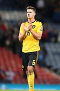 Belgium midfielder Leander Dendoncker (6) (Wolverhampton Wanderers) during the UEFA European 2020 Qualifier match between Scotland and Belgium at Hampden Park, Glasgow, United Kingdom on 9 September 2019.