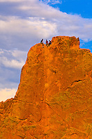Rock climbing, Garden of the Gods, Colorado Springs, Colorado USA
