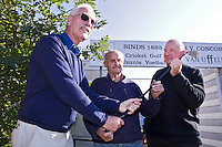 DELFT - Ton Witschge (r) , Hen Ligtvoet (l)  , en Cock Kornneef (m) Golfclub Concordia. FOTO KOEN SUYK