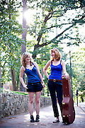 Incoming UNC freshman Ayla Pettry and Sarah Jamison pack up after freshman orientation on campus.