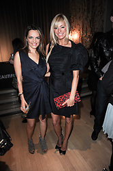Left to right, Maria Hatzistefanis and TESS DALY at The Rodial Beautiful Awards in aid of the charity Kids Company held in the Billiard Room at The Sanderson, 50 Berners Street, London on 3rd February 2010.