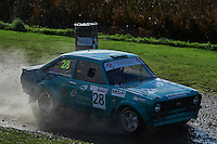 #28 Mike English / Andy Robinson Ford Escort Mk2 RS Wigan Cetus Solutions Limitedduring Neil Howard Memorial Stage Rally, and opening round of the 2015 Motorsport News Rally Championship.  at Oulton Park, Little Budworth, Cheshire, United Kingdom. November 07 2015. World Copyright Peter Taylor. Copy of publication required for printed pictures.  Every used picture is fee-liable. http://archive.petertaylor-photographic.co.uk