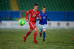 CESENA, ITALY - Tuesday, January 22, 2019: Wales' Grace Horrell during the International Friendly between Italy and Wales at the Stadio Dino Manuzzi. (Pic by David Rawcliffe/Propaganda)