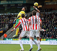 Picture by Paul Chesterton/Focus Images Ltd +44 7904 640267.03/11/2012.Bradley Johnson of Norwich scores what turns out to be the winning goal and celebrates during the Barclays Premier League match at Carrow Road, Norwich.