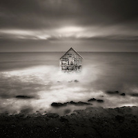 A house superimposed on the sea