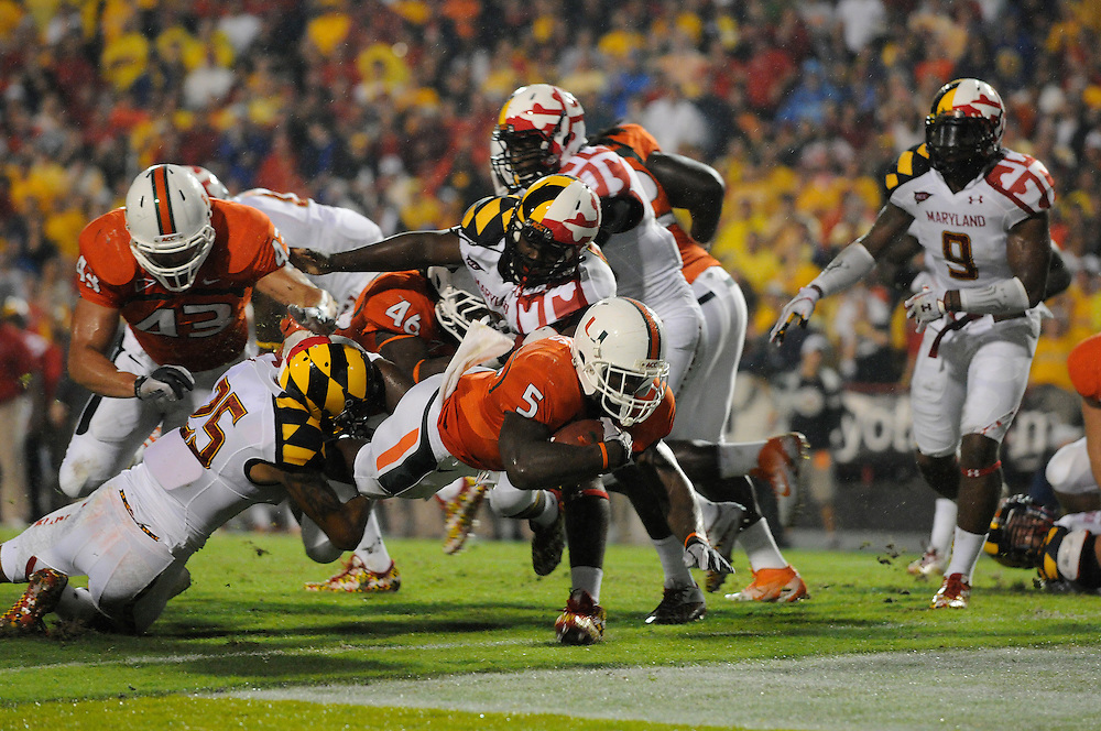 2011 Miami Hurricanes Football @ Maryland<br /> <br /> Mike James