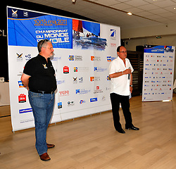 Christian Tommasini, the President of the Yacht Club Pointe Rouge, Marseille, welcomes the teams competing at Match Race France.