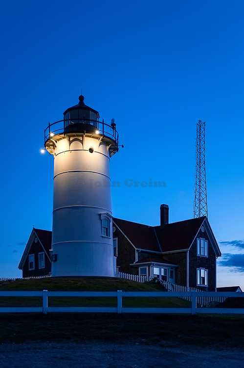 Nobska Lighthouse, Woods Hole, Foulmouth, Cape Cod, Massachusetts, USA