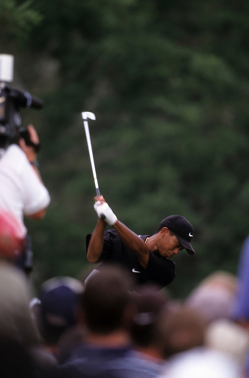 Tiger Woods at the 1997 PGA Championship held at Winged Foot Golf Club in Mamaroneck, New York.