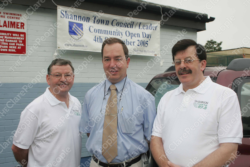 Greg Duff , Padraig McCormack and Pat Barry pictured at the Shannon Community Open Day in the Lesiure Centre, Shannon on Sunday. Pic. Brian Arthur/ Press 22.