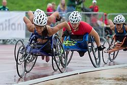 06/08/2017; Dederick, Hannah, T54, USA, Mussinelli, Licia, SUI at 2017 World Para Athletics Junior Championships, Nottwil, Switzerland
