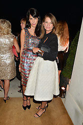 Left to right, CAROLINE VON WESTENHOLZ and NATALIE MASSENET at a party hosed by the US Ambassador to the UK Matthew Barzun, his wife Brooke Barzun and editor of UK Vogue Alexandra Shulman in association with J Crew to celebrate London Fashion Week held at Winfield House, Regent's Park, London on 16th September 2014.