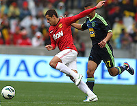 Manchester United's Javier Hernandez against Ajax Cape Town during their International friendly match at Cape Town Stadium,South Africa