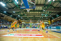 Friendly basketball match between National teams of Slovenia and Ukraineat day 1 of Adecco Cup 2015, on August 21 in Koper, Slovenia. Photo by Grega Valancic / Sportida