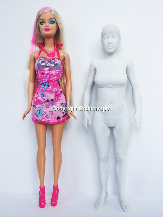 Revealed: What Barbie would look like as a real woman (the results might surprise you)<br /><br />From her outrageously tiny waist to her unfeasibly long legs, the world's most famous doll has long been the target of criticism from feminists and other women's groups who say it promotes an unhealthy idea of body image in girls.<br />Several artists have set about proving the public's claim by scaling the iconic doll up to human size, to reveal her unrealistic measurements compared to the average human girl.<br />But now, in a role reversal, one artist has shown what Barbie would look like as the average 19-year-old girl and the results are surprising.<br /><br />Artist Nickolay Lamm of MyDeals.com used the measurements of an average 19-year-old woman to create a 3-D model, which he photographed next to a standard Barbie doll. <br /><br />Lamm then photoshopped the 3-D model to make it look like a Barbie doll.<br />In his previous research, Lamm found that, scaled up to human size, Barbie dolls would have unrealistic measurements of 36-18-33, compared with the typical 19-year-old girl's 32-31-33.<br />The average woman, meanwhile, has 38 inch back, a 34 inch waist and hips that measure 40 inches around, and Lamm's work shows that Barbie looks a lot more natural with these measurements.<br /><br />Thanks to her ultra-slender measurements, it has been estimated that, if she were to exist as a human, Barbie would weigh about 110lbs - or 7 stone, 8lbs - and would have a BMI of 16.24. This would fit the weight criteria for anorexia.<br />Speaking about his latest work, he said: 'My last Barbie project got a lot of criticism because Barbie is just a toy.<br />'People argue that a toy can't do any harm. <br />'However, if we criticise skinny models, we should at least be open to the possibility that Barbie may negatively influence young girls as well. <br />'Furthermore, a realistically proportioned Barbie actually looks pretty good in the pictures I produced.<br />'So, if t