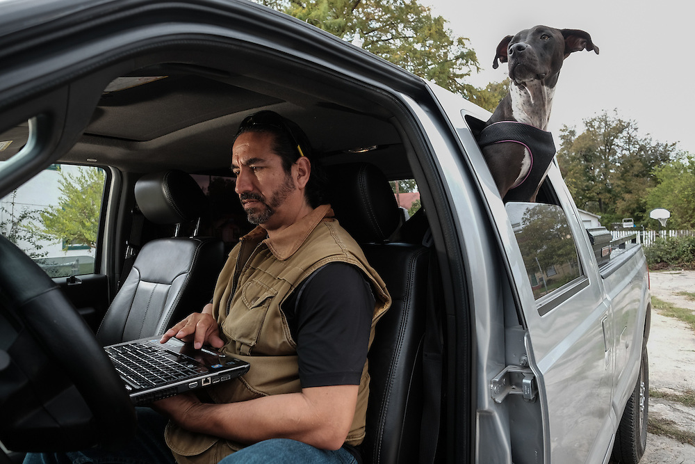 Real estate investor Thomas Romo buys and rehabs property in his hometown of San Antonio, Texas.  Thomas's office is his pickup truck, and his assistant is his dog Dottie. <br />