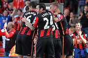 Bournemouth celebrate during the Barclays Premier League match between Bournemouth and Sunderland at the Goldsands Stadium, Bournemouth, England on 19 September 2015. Photo by Mark Davies.