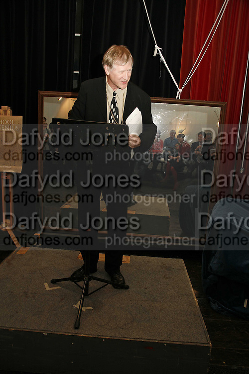 president of the RA  Sir Nicholas Grimshaw, Book Launch of ' School of Genius' by James Fenton. Life Room of the Royal academy Schools. Royal academy of arts. London W1. 6 April 2006. ONE TIME USE ONLY - DO NOT ARCHIVE  © Copyright Photograph by Dafydd Jones 66 Stockwell Park Rd. London SW9 0DA Tel 020 7733 0108 www.dafjones.com