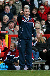 London, England - Saturday, January 12th, 2008:  Charlton Athletic's manager Alan Pardew in action against Blackpool during the League Championship match at The Valley. (Pic by Chris Ratcliffe/Propaganda)