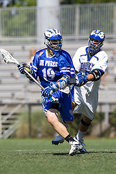 06 May 2007: Air Force midfielder Brian Massa (19) during a Duke Blue Devils 19-6 victory over the Air Force Falcons at Koskinen Stadium in Durham, NC.