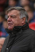Sunderland Manager Sam Allardyce  during the Barclays Premier League match between Sunderland and Newcastle United at the Stadium Of Light, Sunderland, England on 25 October 2015. Photo by Simon Davies.