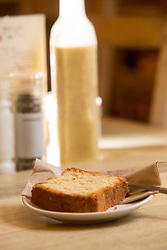 The slice of lemon loaf. Pillars of Hercules, Falkland, Fife, Tam Cowan review