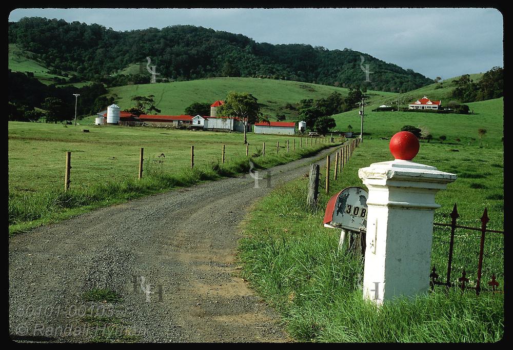 Innisfall Farm nestles in verdant dairy pastures along the coast south of the town of Kiama, NSW. Australia