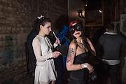 HANA PIRANHA; POLLY HARVEY,, LOST HEARTS , A VALENTINE'S MASQUERADE BALL 2016 at the Coronet Theatre,  Elephant and Castle, London. 12th February 2016