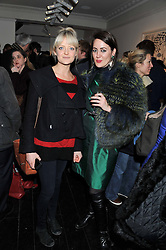 Left to right, LADY ELOISE ANSON and MARY FELLOWES at a private view of art works by Annie Morris entitled 'There is A Land Called Loss' held at Pertwee Anderson & Gold Gallery, 15 Bateman Street, London W1 on 2nd February 2012.