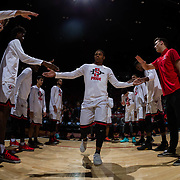 09 December 2017:  The San Diego State men's basketball team hosts the California Golden Bears Saturday afternoon. San Diego State Aztecs forward Matt Mitchell (11) takes the court during introductions prior to taking on Cal. The Aztecs trail 39-34 at halftime.<br /> www.sdsuaztecphotos.com