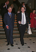Prince Charles and David Campbell. Everyman's Centenary Party. The Fine Rooms. Royal Academy. London. 15 February 2006. dddONE TIME USE ONLY - DO NOT ARCHIVE  © Copyright Photograph by Dafydd Jones 66 Stockwell Park Rd. London SW9 0DA Tel 020 7733 0108 www.dafjones.com