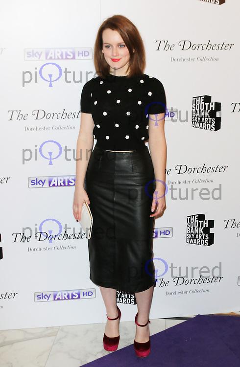 Sophie McShera, The South Bank Sky Arts Awards, Dorchester Hotel, London UK, 27 January 2014, Photo by Richard Goldschmidt