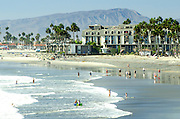 People Enjoying the Beach in Oceanside California