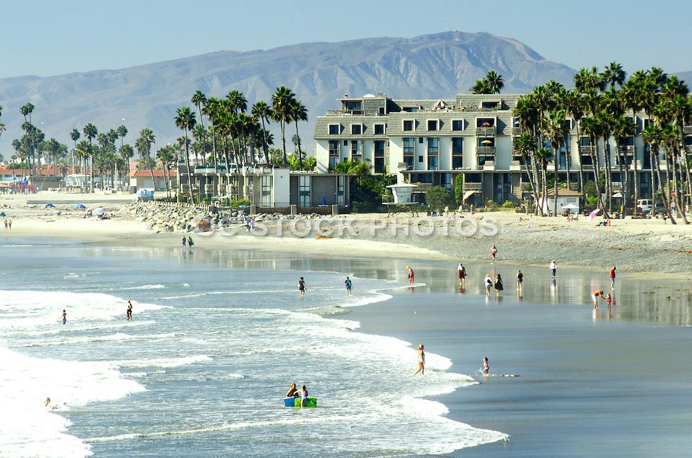 People Enjoying the Beach in Oceanside California
