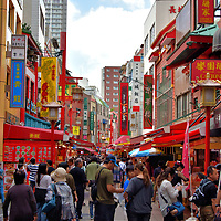Busy Chinatown of Nankinmachi in Kobe, Japan <br />