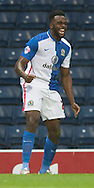 Hope Akpan of Blackburn Rovers celebrates after scoring his team's 1st goal to make it 1-0 during the Sky Bet Championship match at Ewood Park, Blackburn<br /> Picture by Russell Hart/Focus Images Ltd 07791 688 420<br /> 28/11/2015