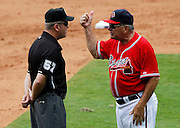 ATLANTA - AUGUST 29:  Atlanta Braves manager Bobby Cox argues a call with third base umpire Mike Everitt #57 after Cox was ejected during the game against the Florida Marlins at Turner Field on August 29, 2010 in Atlanta, Georgia.  The Braves beat the Marlins 7-6.  (Photo by Mike Zarrilli/Getty Images)