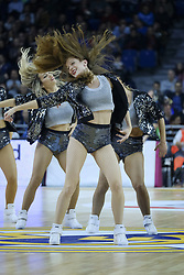 December 1, 2017 - Madrid, Madrid, Spain - Cheerleader during the 2017/2018 Turkish Airlines Euroleague Regular Season Round 10 game between Real Madrid v Crvena Zvezda mts Belgrade at Wizink Arena on December 1, 2017 in Madrid, Spain. (Credit Image: © Oscar Gonzalez/NurPhoto via ZUMA Press)