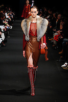 Irina Liss (The Lions) walks the runway wearing Altuzarra Fall 2015 during Mercedes-Benz Fashion Week in New York on February 14, 2015